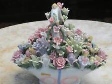 Gran cesta de flores de China hecha a mano