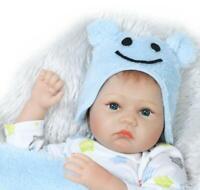 """22NPK Reborn Dolls Boy Blue Eyes 22"""" Silicone Newborn Reborn Baby Dolls Lifelike"""