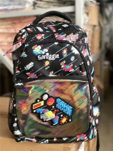 Boy's SMIGGLE Lilac Fave Color Backpack School Bag Rucksack NEW RARE book Black