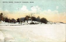 Falmouth Foreside ME Winter Scene Postcard