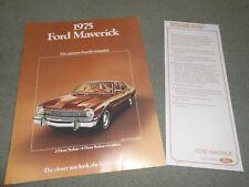 1975 FORD MAVERICK BROCHURE / ORIGINAL SALES CATALOG plus '75 UPDATE SHEET!