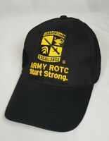 Leadership Excellence Army Rotc Start Strong Hat Cap Black Strapback Adult