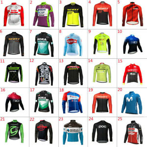 2021 Mens Team Cycling Jersey Cycling Jersey Long Sleeve bicycle Jerseys