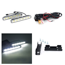 2pc COB Auto car Headlight Driving Light DRL Fog Lamp with Bracket and Harness