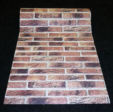 9044-2) 1 Rolle hochwertige dicke Schaum Tapete Klinker Riemchen SUPER