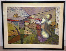 Woman Fine Art Original Framed Oil Painting, Peru, 1994