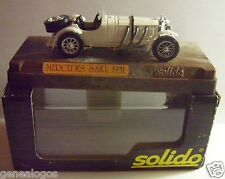 AGE D'OR SOLIDO OLD MERCEDES SSKL 1931 BLANCHE METAL 1/43 IN BOX