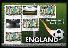 Sierra Leone 2012 MNH UEFA EURO 2012 Inghilterra 6V M / S Calcio Polonia Ucraina