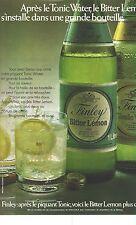 PUBLICITE 1973   FINLEY bitter & tonic  existe aussi en grande bouteille
