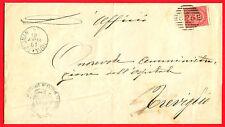 Numerale da Brignano Gera d'adda (Bergamo) su piego amm