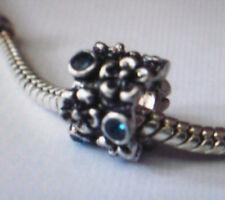 Bead Element Spacer Strass Türkis Farbe Antiksilber Silber für Armband 0633