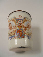 King Edward VII & Queen Alexandra Coronation Enamel Ware Beaker from 1902