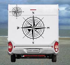 Kompass Windrose, Maritimer Womo - Aufkleber in TOP Qualität   -K1-