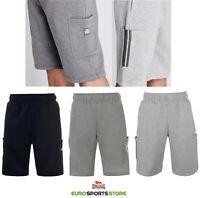 Lonsdale Mens Fleece Cargo Shorts Size S M L XL 2XL 3XL Sports Casual