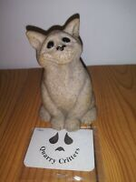 """Second Nature Design Quarry Critters """"Chico"""" the Cat Figurine 4 inches tall"""