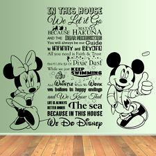 Enorme en esta Cámara tenemos reglas de cotización de estilo de Disney Vinilo Arte Pared Adhesivo Mural