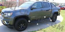 "2015-2018 Chevrolet Colorado GMC Canyon GM OEM 3"" Round Black Assist Steps NEW"