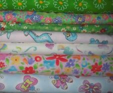 New listing Big Block Quilt Kit Fabrics -Flannels - Great Girls/Kids Quilt !