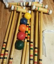 Spalding Wooden Croquet Set 6 Player with Carry Bag