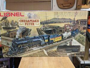LIONEL O GAUGE No. 1052 CHESAPEAKE FLYER STEAM POWERED TRAIN SET NEW IN BOX