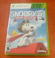 Snoopy's Grand Adventure Microsoft Xbox 360 Peanuts Movie Activision Blue Sky