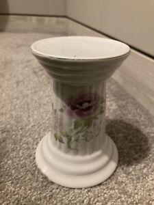 Pillar Candle Holder Ceramic Floral