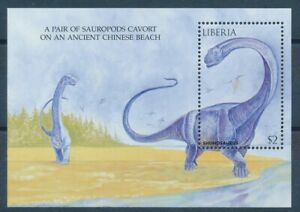 [343424] Liberia dinosaur good very fine MNH sheet