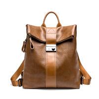 Women Backpack Genuine Leather Crossbody Shoulder Bag Fashion Rucksack Handbag