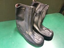 German Army NBC Kit Rubber Over Boots, Bata, Size XL 270-280, Gardening, Zip Up