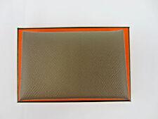 Brand New in Box: HERMES Calvi Card Case Wallet Epsom Etoupe