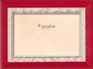 Natalini Lorena Red White Hand Made Italian Marquetry Photo Picture Frame