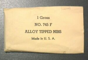 Hunt Co. No. 745 F Alloy Tipped Nibs -1 Gross
