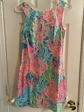 Lilly Pulitzer Let's Cha Cha Delia Dress Holy Grail Sz 2 #60595 Coral
