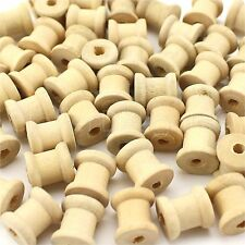 """25 Pack - 1/2"""" x 1/2"""" Inch Wood Spools - Unfinished - Thread Wire Sewing Bobbin"""