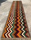 Authentic Hand Knotted Afghan Nokaar Balouch Wool Area Runner 9.5 x 2.5 Ft