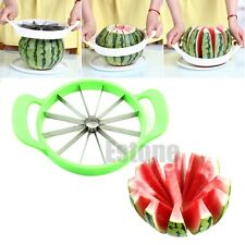 Stainless Steel Watermelon Cutter Melon Cantaloupe Slicer Kitchen Fruit Divider