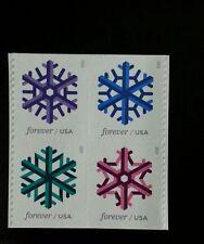 2015 49c Geometric Snowflakes, Block of 4 Scott 5031-34 Mint F/VF NH