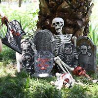 Halloween Foam RIP Graveyard Tombstones Headstone Metal Stakes Decor