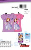 8 ans ROSE (128cm) *** T-shirt Princesse SOFIA DISNEY 100% coton NEUF l'unité