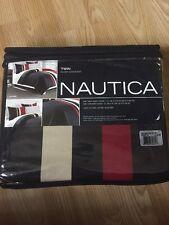 Nautica Twin Everson Navy Striped 3-Piece Cotton Duvet Cover Set