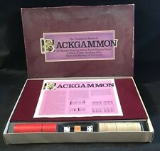 VINTAGE 'THE TRADITIONAL GAME OF BACKGAMMON' 1970 COMLETE GOOD CONDITION