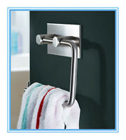 Toilet Paper Tissue Roll Holder Bathroom Towel Rack- New Brushed Stainless Steel