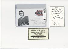 Noel Picard (Jean) Montreal Canadiens AUTOGRAPH AUTO INDEX HOCKEY CARD 100% COA