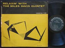 MILES DAVIS Relaxin' LP PRESTIGE 7129 US 1958 RVG MONO John Coltrane Red Garland