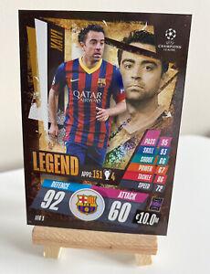 Match Attax 20/21 2020/21 Xavi Legend Barcelona Shiny Foil Rare Card(LEG1)
