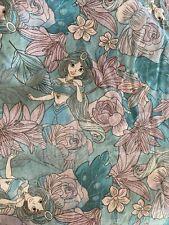 "Disney Aladdin Princess Jasmine Floral 100% Cotton Fabric 102"" X 44"" Prewashed"