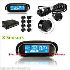 8×Car Parking Sensor LCD Display Reverse Backup Alarm Radar Detector Front/Rear