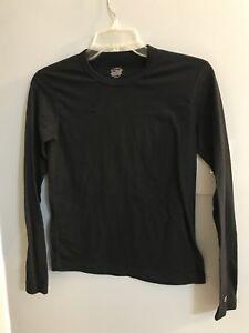 Duofold Boys Light Weight Base Layer Black Shirt Size Large