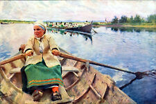 ROWING TO CHURCH 1912 Anders Zorn PRINT