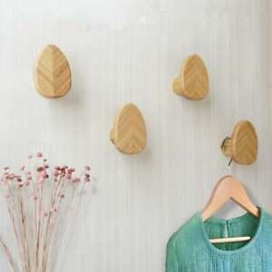 Solid Bamboo Wood Hooks Creative Wall Hooks Decorative Hooks Wall Hook